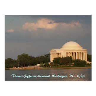 Monumento de Jefferson Tarjeta Postal