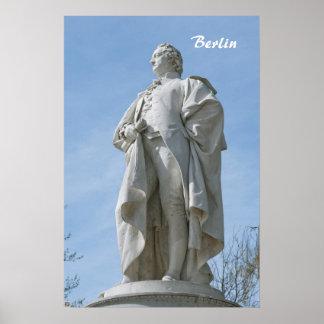 Monumento de Johann Wolfgang von Goethe en Berlín Posters