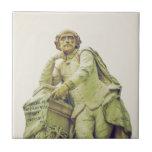 Monumento de la estatua de William Shakespeare Azulejo Cuadrado Pequeño