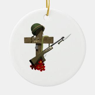 Monumento de la guerra mundial 2 ornamento para arbol de navidad