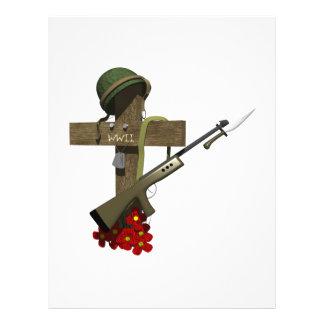 "Monumento de la guerra mundial 2 folleto 8.5"" x 11"""