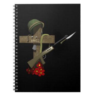 Monumento de la guerra mundial 2 cuadernos