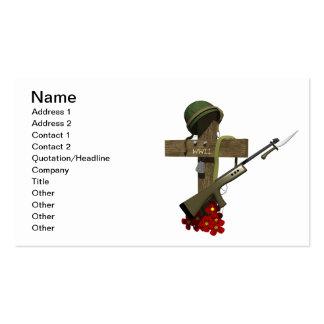 Monumento de la guerra mundial 2 plantilla de tarjeta de negocio