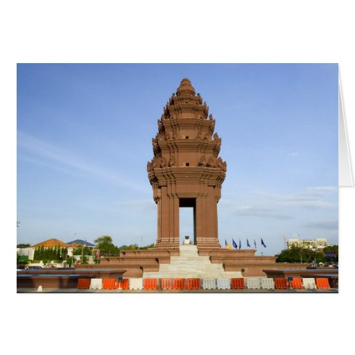 Monumento de la independencia en Phnom Penh Tarjeta De Felicitación