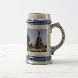 Monumento de la montaña tazas de café