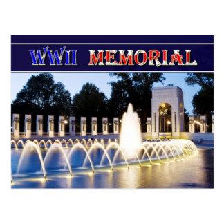 Monumento de la Segunda Guerra Mundial en Tarjeta Postal