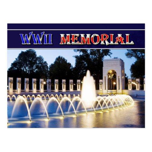 Monumento de la Segunda Guerra Mundial en Washingt Tarjeta Postal