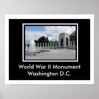 Monumento de la Segunda Guerra Mundial Póster