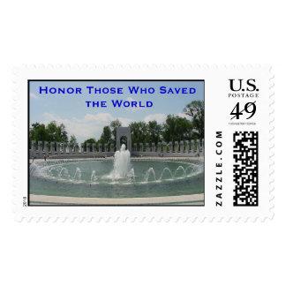 Monumento de la Segunda Guerra Mundial Sello Postal