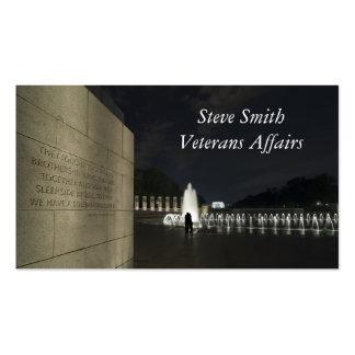 Monumento de la Segunda Guerra Mundial Tarjeta De Visita
