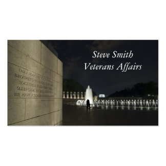 Monumento de la Segunda Guerra Mundial Tarjetas De Visita
