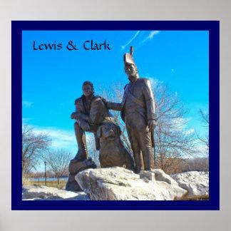 Monumento de Lewis y de Clark Posters