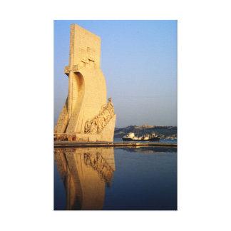Monumento de los descubrimientos de Portugal, el r Lona Envuelta Para Galerias