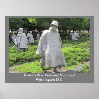 Monumento de los veteranos de Guerra de Corea - Póster