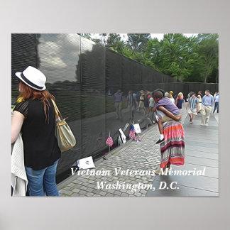 Monumento de los veteranos de Vietnam - Washington Póster