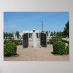 Monumento de los veteranos del poster del condado