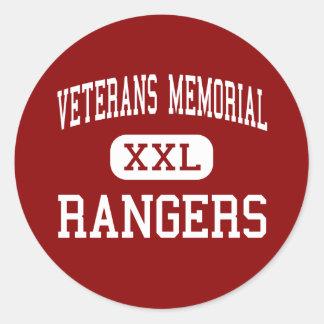 Monumento de los veteranos - guardabosques - etiquetas redondas