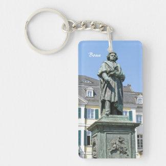 Monumento de Ludwig van Beethoven en Bonn Llavero Rectangular Acrílico A Una Cara