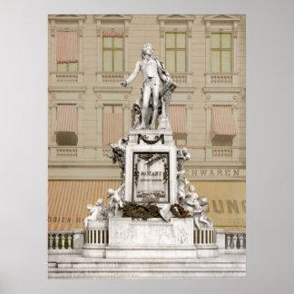 Monumento de Mozart Póster