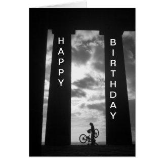 Monumento de Penshaw con la tarjeta de cumpleaños