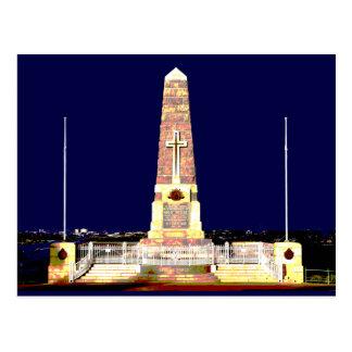 Monumento de Perth por noche Tarjetas Postales