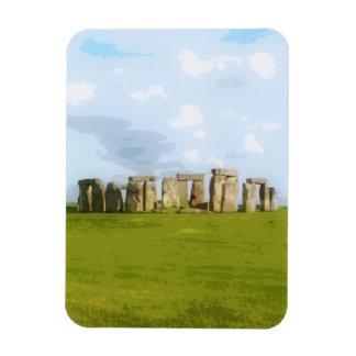 Monumento de piedra del círculo de Stonehenge Imanes De Vinilo