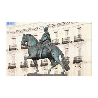 Monumento de rey Charles III en Madrid Impresion En Lona