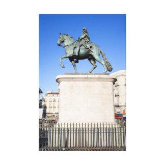 Monumento de rey Charles III en Madrid Impresiones De Lienzo