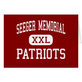 Monumento de Seeger - patriotas - alto - Líbano de Felicitación