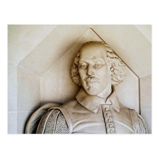 Monumento de Shakespeare Tarjeta Postal