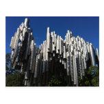 Monumento de Sibelius Tarjeta Postal
