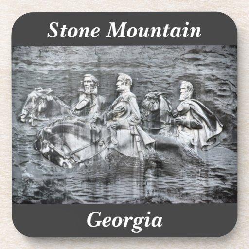 Monumento de Stone Mountain Georgia al Confederacy Posavasos