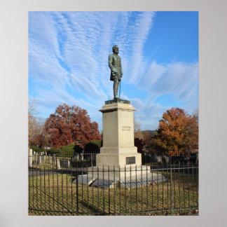 Monumento de Stonewall Jackson Póster