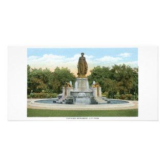 Monumento de Thatcher, Denver, Colorado Tarjeta Personal Con Foto