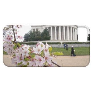 Monumento de Thomas Jefferson con las flores de iPhone 5 Funda