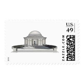 Monumento de Thomas Jefferson: modelo 3D: Estampillas