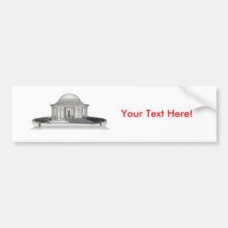 Monumento de Thomas Jefferson: modelo 3D: Pegatina Para Auto