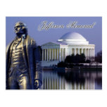 Monumento de Thomas Jefferson, Washington, C.C. Tarjeta Postal