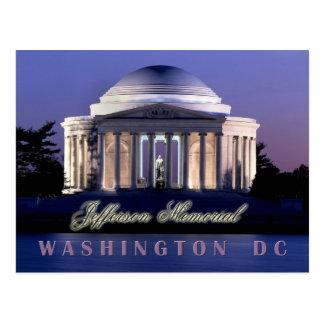 Monumento de Thomas Jefferson Washington C C Tarjeta Postal