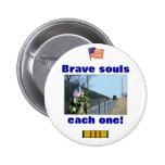 Monumento de Vietnam - almas valientes, cada una b Pin