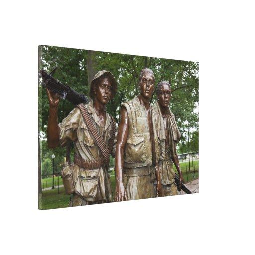 Monumento de Vietnam Impresión De Lienzo