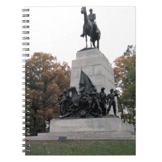 Monumento de Virginia en Gettysburg NMP Libros De Apuntes