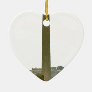 Monumento de Washington Adorno Navideño De Cerámica En Forma De Corazón