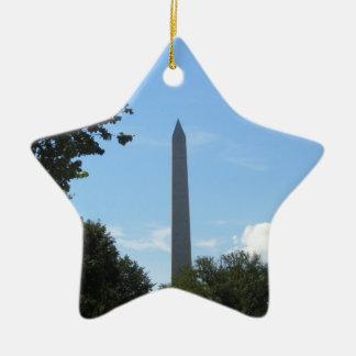 Monumento de Washington Adorno Navideño De Cerámica En Forma De Estrella