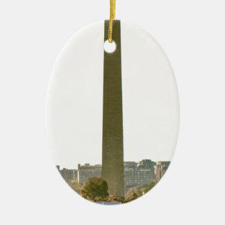Monumento de Washington Adorno Navideño Ovalado De Cerámica