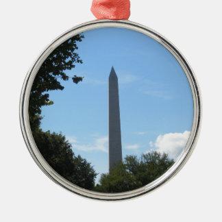 Monumento de Washington Adorno Navideño Redondo De Metal