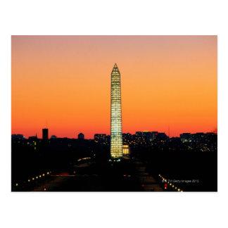 Monumento de Washington bajo restauración en la Postal