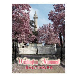 Monumento de Washington, Baltimore, Maryland Tarjeta Postal