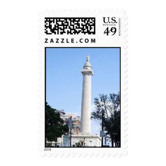 Monumento de Washington, Baltimore Franqueo