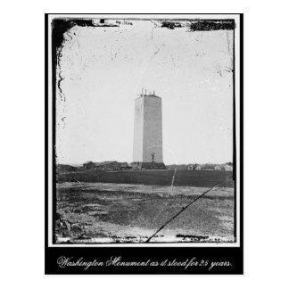 Monumento de Washington como representaba 25 años Tarjeta Postal